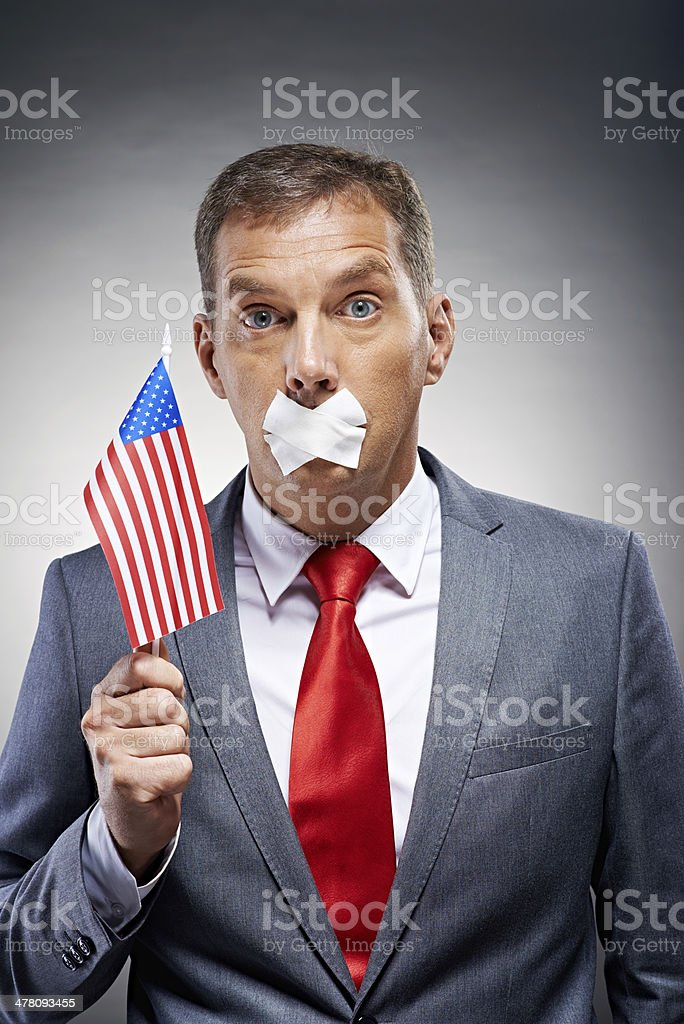Voiceless patriot royalty-free stock photo