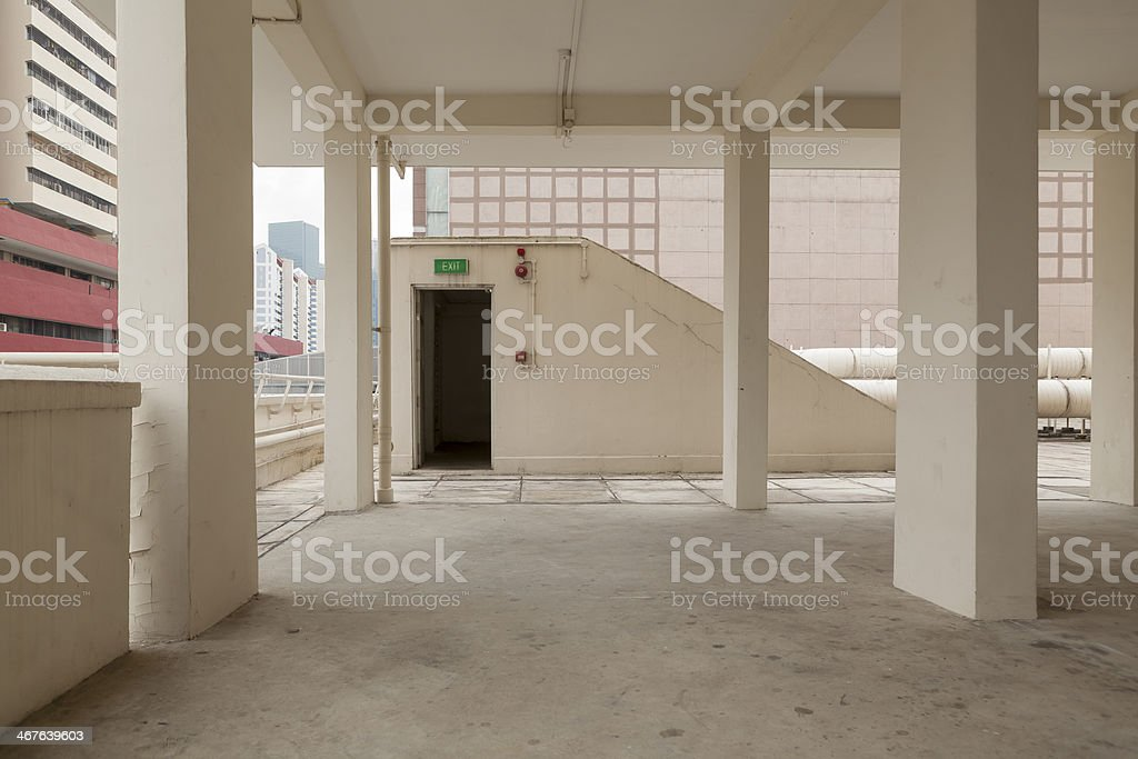 Void Deck at People's Park Centre royalty-free stock photo