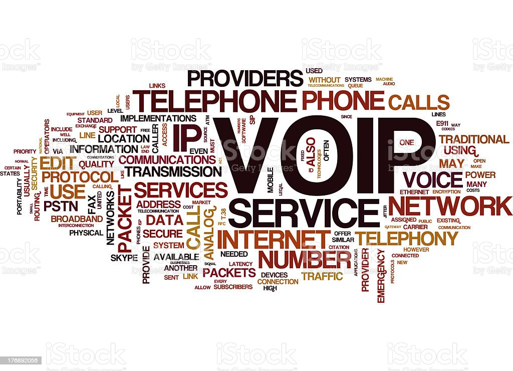 Voip collage concepts stock photo