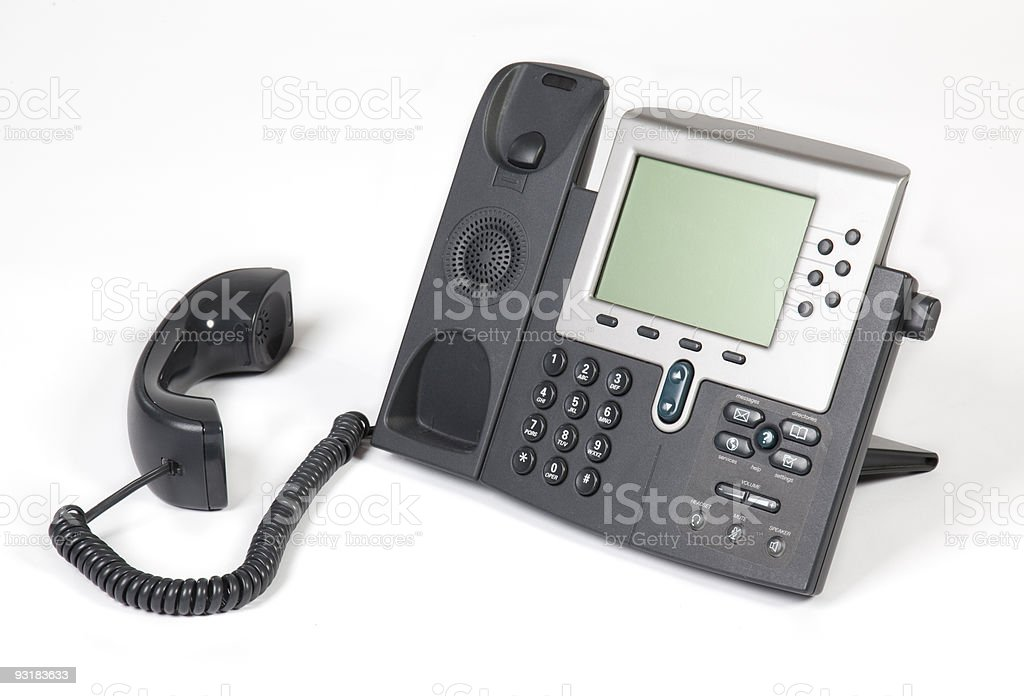 Voip Phone off the hook stock photo