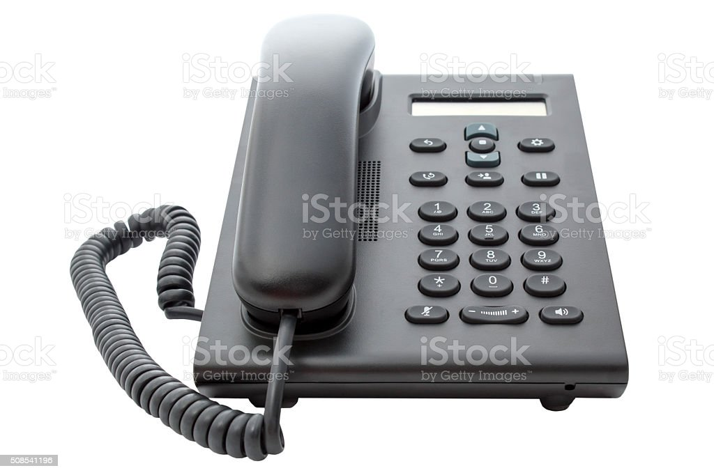 VoIP Phone with LCD Display stock photo
