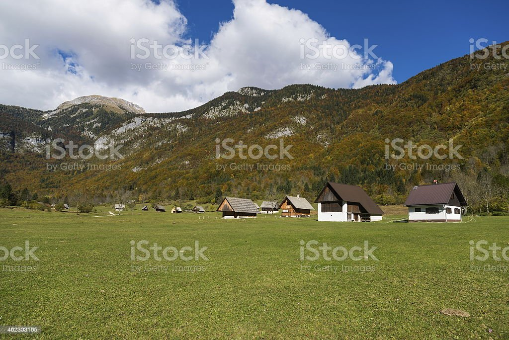 Voje valley stock photo