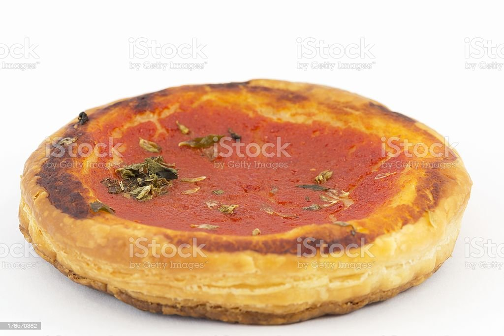 vol au vent with tomato and oregano royalty-free stock photo