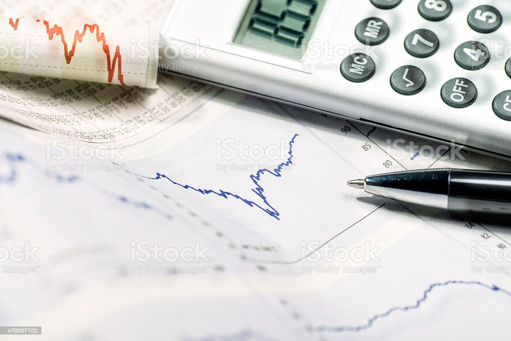 Volatility in the markets stock photo