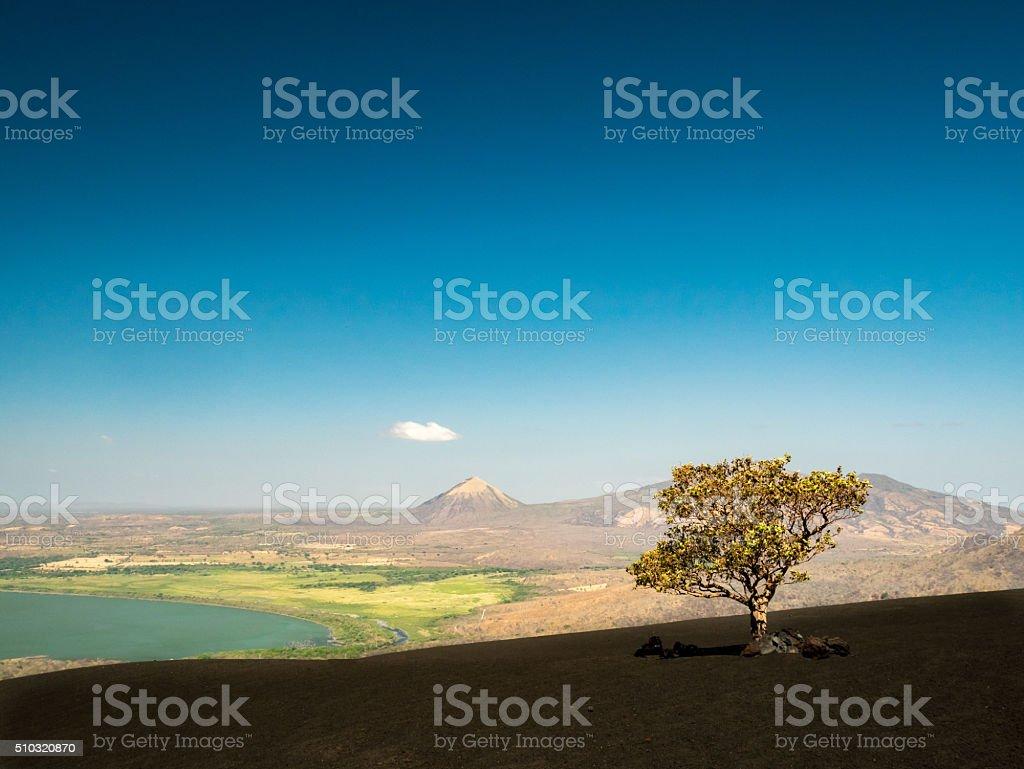 Volcan Momotobo in the near of Leon royalty-free stock photo