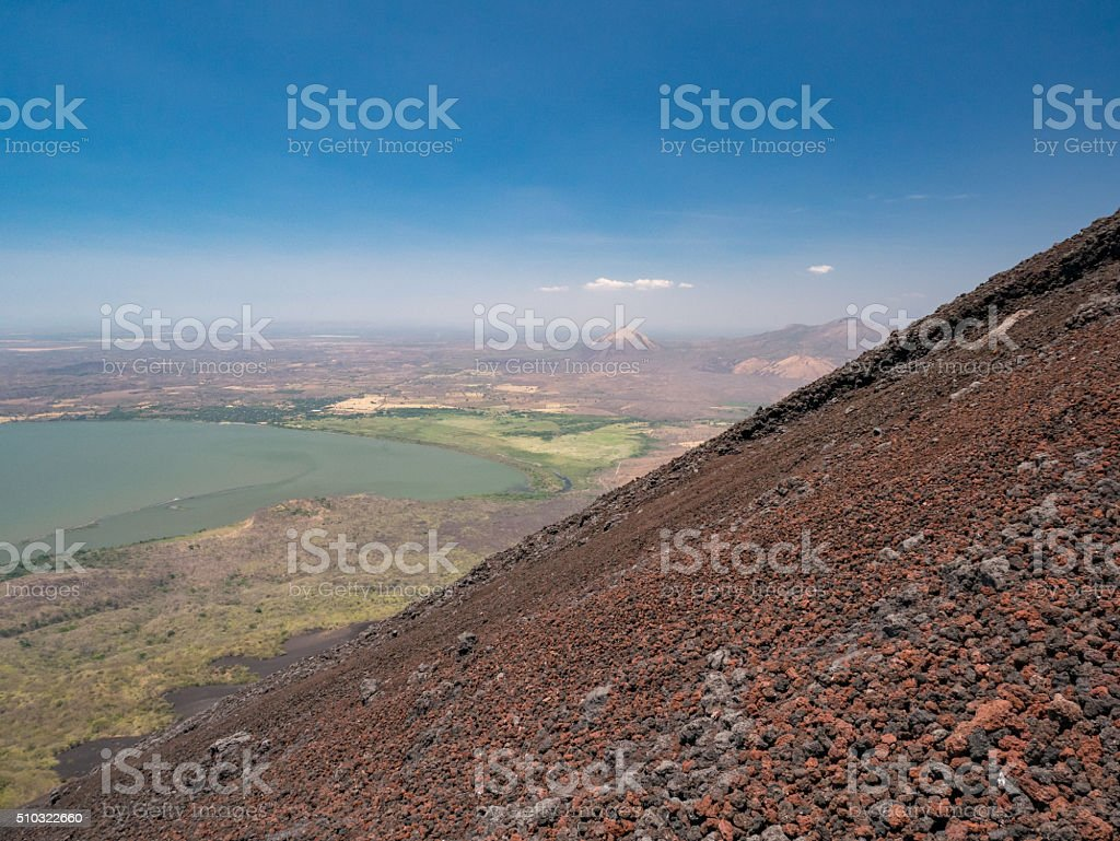 Volcan Momotobo in the near of Leon royalty-free stock photo
