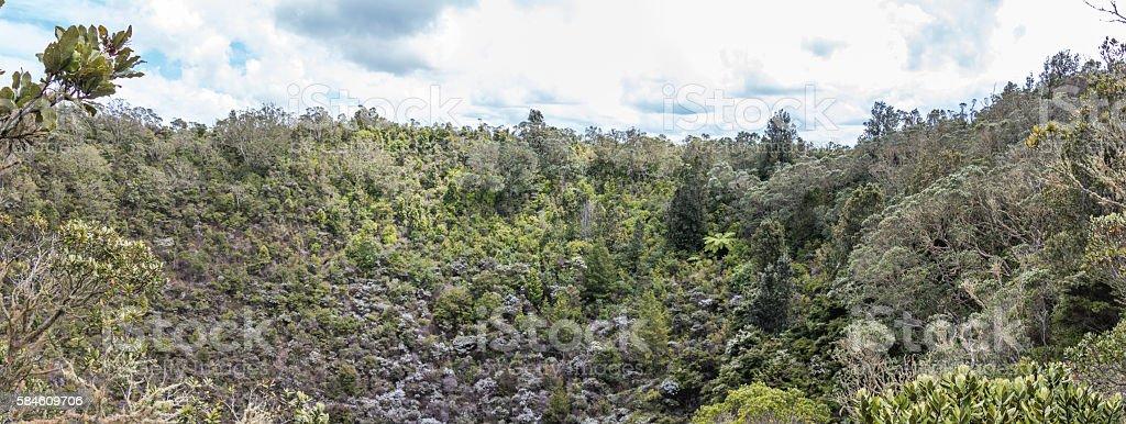 Volcanic area stock photo