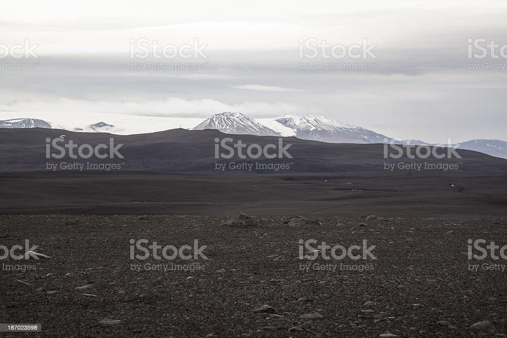 Volcanic ash desert in Iceland stock photo