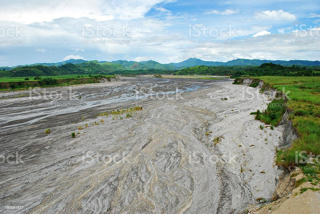 Volcanic Ashes Over a River royalty-free stock photo