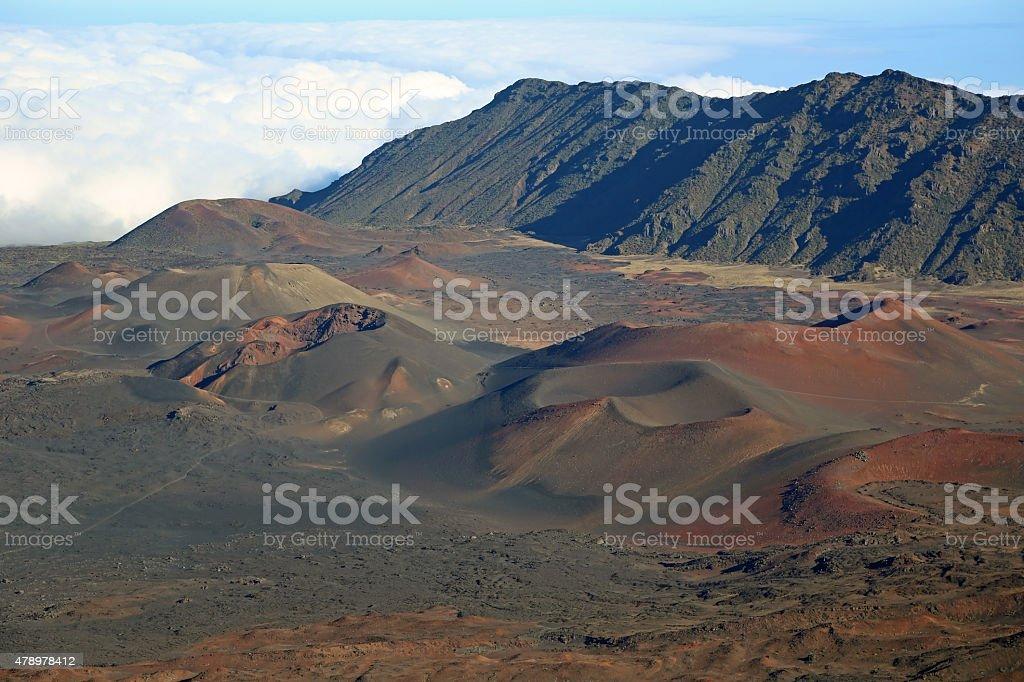 Volcanic cinder cones in Haleakala stock photo