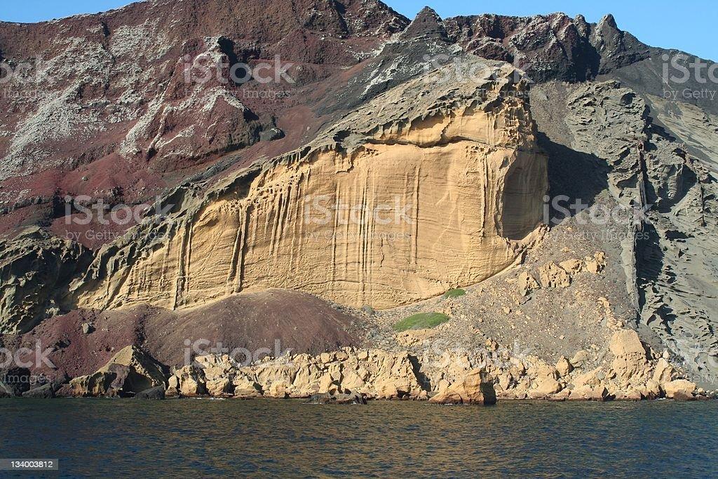 Volcanic cliffs stock photo