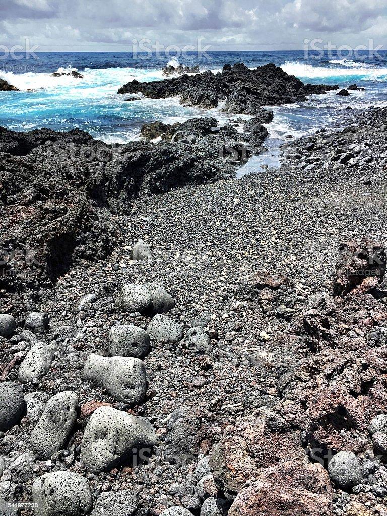 Volcanic coast stock photo