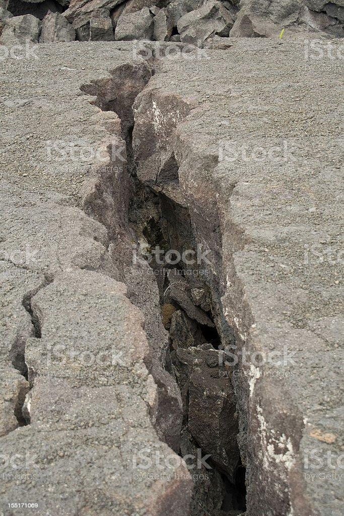 Volcanic Crack stock photo