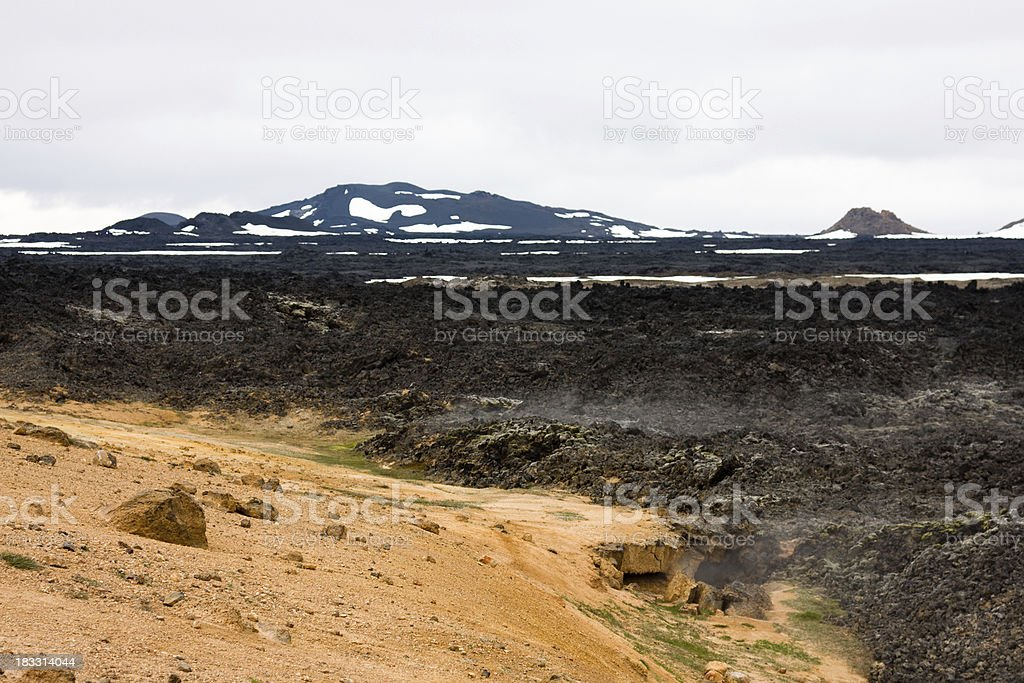 Volcanic Crater Landscape royalty-free stock photo
