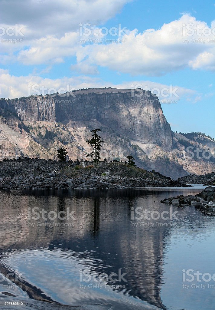 Volcanic Crater View Crater Lake National Park Oregon stock photo