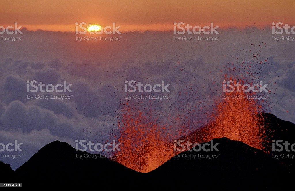 volcanic eruption 5 royalty-free stock photo