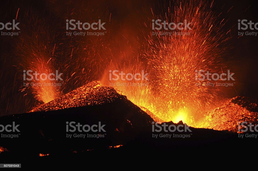 Volcanic Eruption Iceland Ejyafjallajokull stock photo