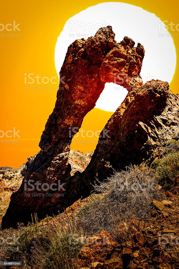 Volcanic Formation Natural Arch stock photo