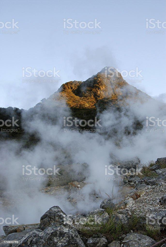 volcanic gas geyser stock photo