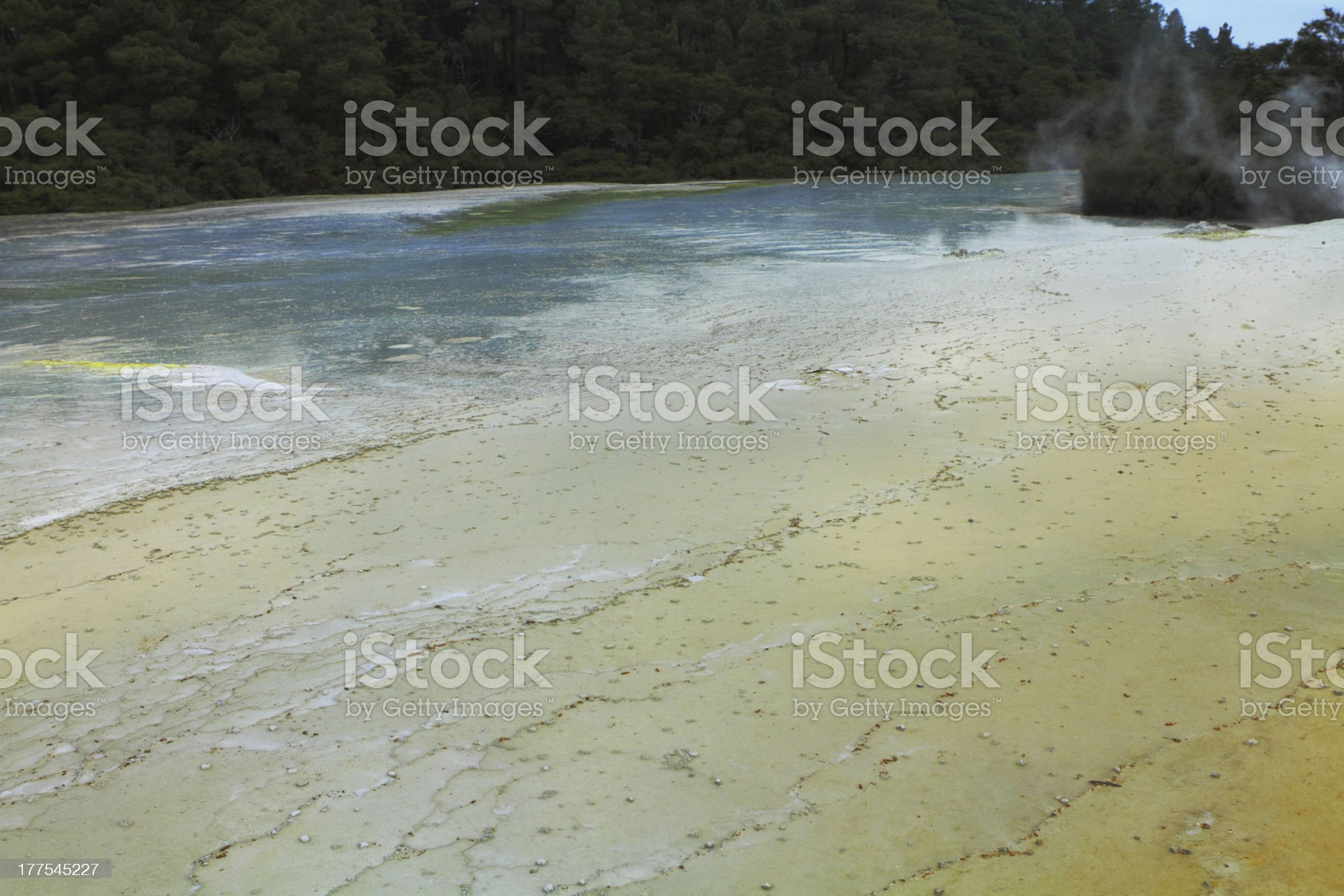 Volcanic hot spring royalty-free stock photo