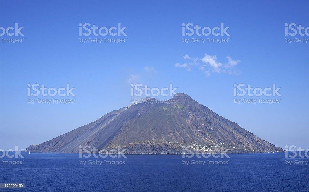 Volcanic Island Stromboli, Italy stock photo
