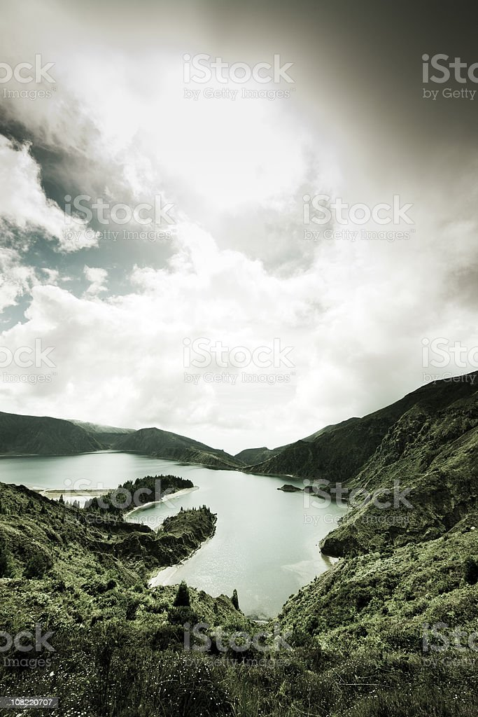 Volcanic Lake San Miguel Azores Islands royalty-free stock photo