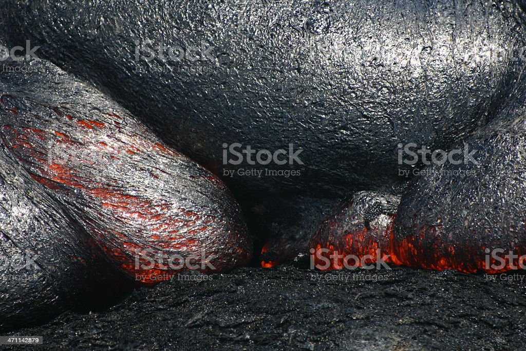 volcanic landscape Hawaii molten liquid basalt lava volcano eruption stock photo