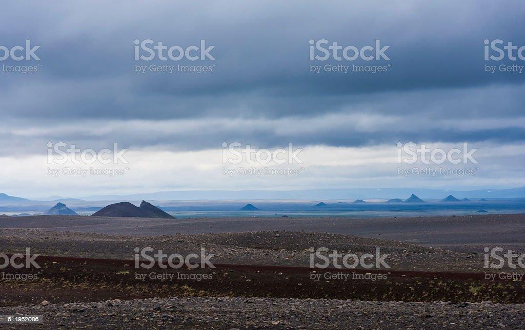 Volcanic Landscape Iceland stock photo