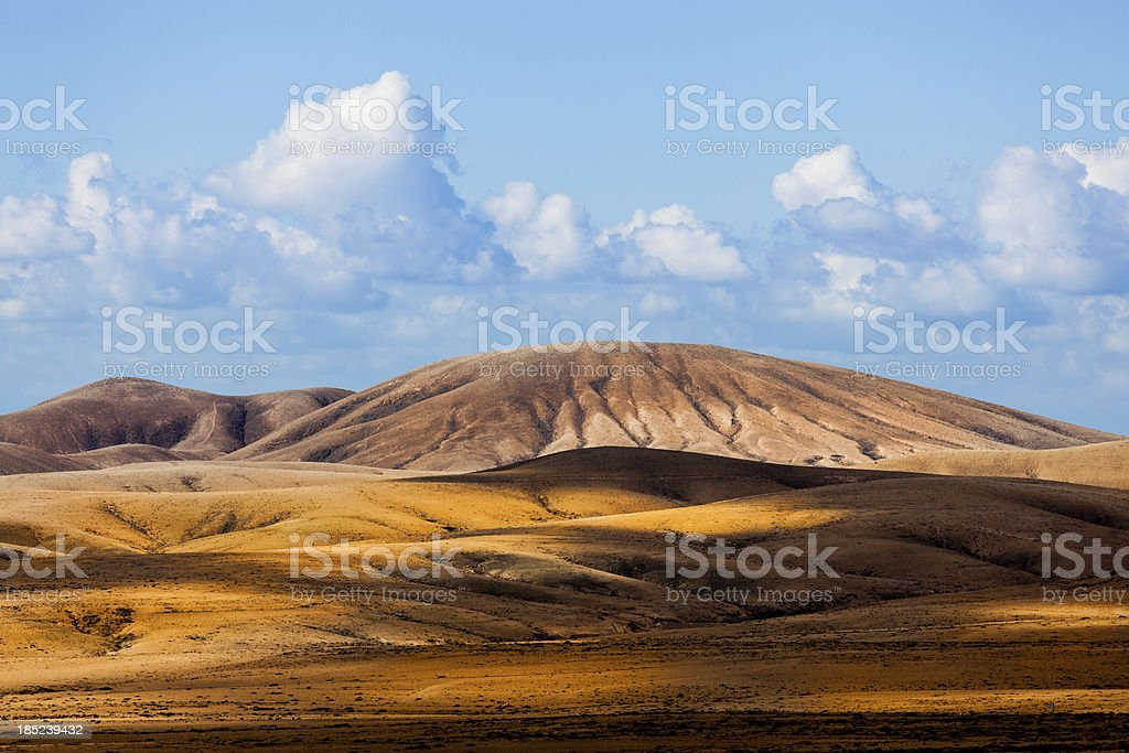 Volcanic Landscape in Canary Islands stock photo