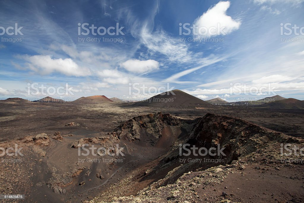 Volcanic landscape in Lanzarote royalty-free stock photo