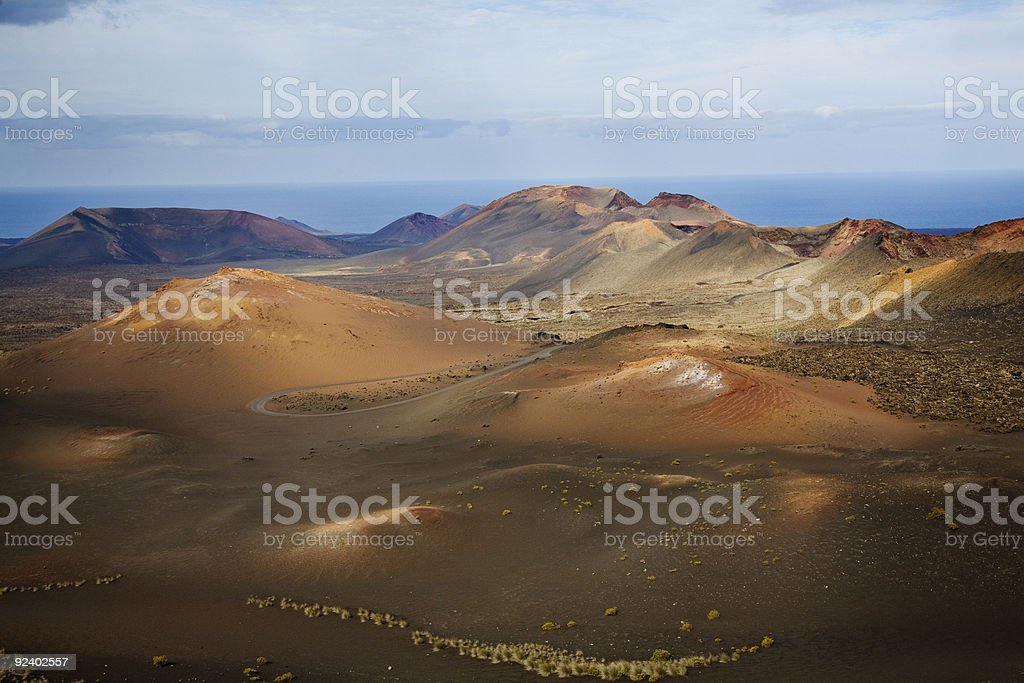 Volcanic landscape in Lanzarote stock photo