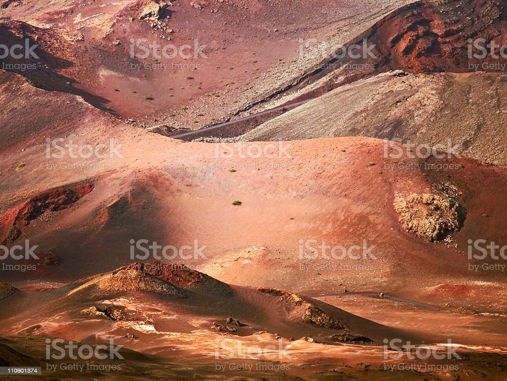 Volcanic landscape, Lanzarote Island stock photo