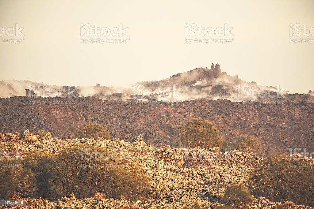 Volcanic landscape on Mount Etna. royalty-free stock photo