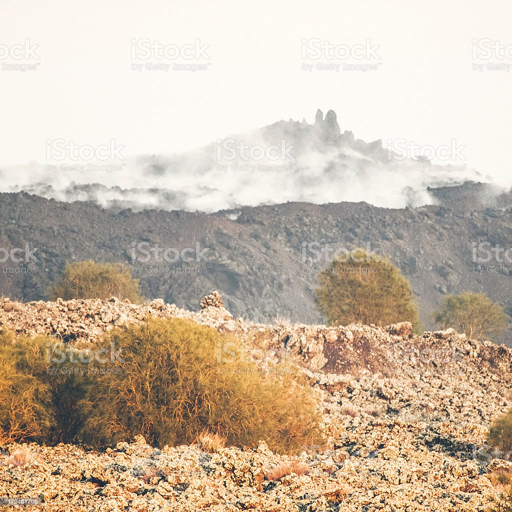 Volcanic landscape on Mount Etna. royalty-free stock photo