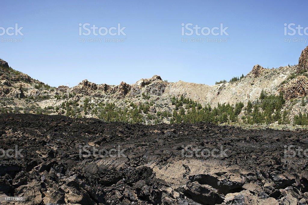 volcanic landscape royalty-free stock photo