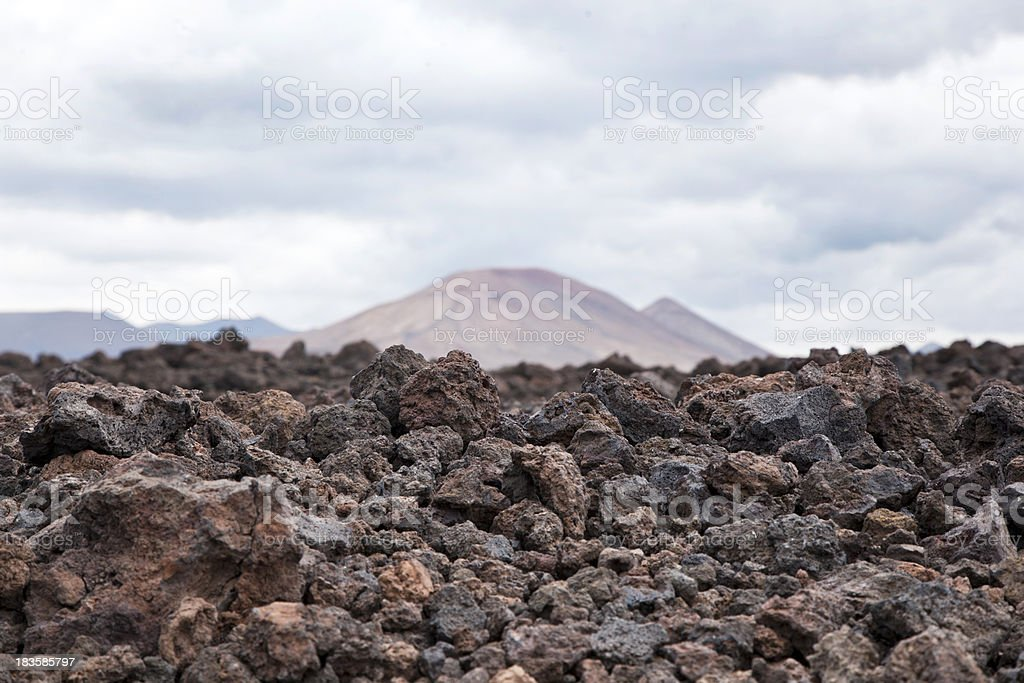Volcanic Landscape royalty-free stock photo