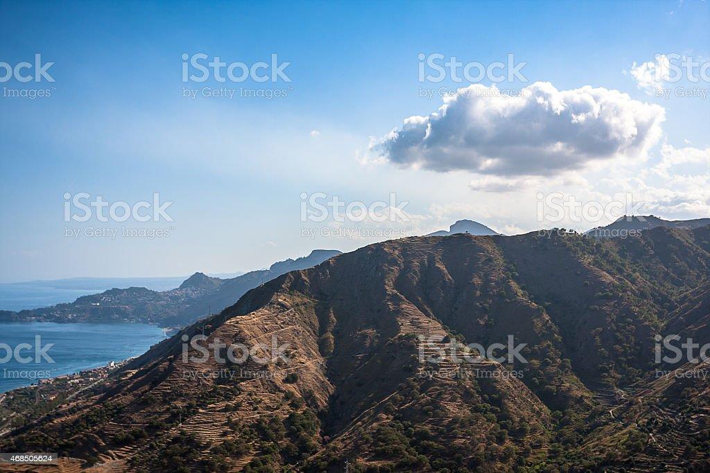 Volcanic landscape. Sicily stock photo