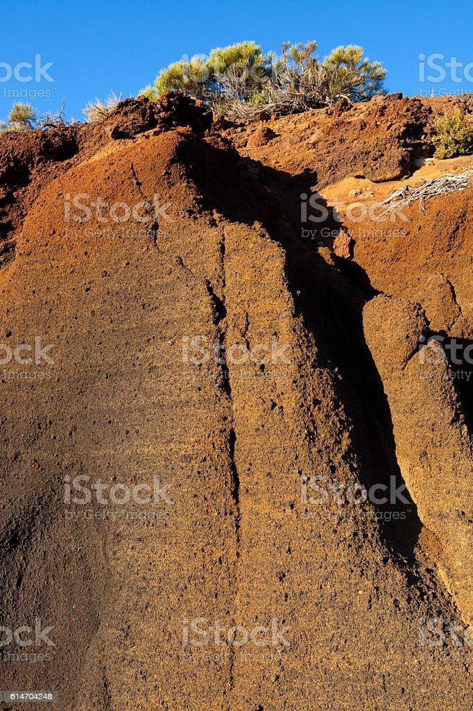 Volcanic layers stock photo