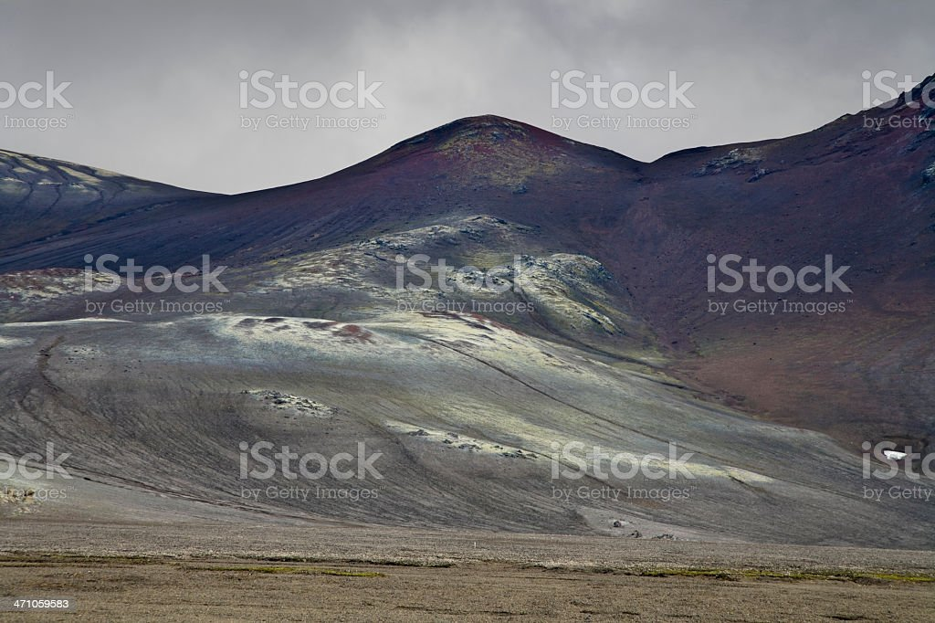 Volcanic Mountain Landscape Iceland royalty-free stock photo