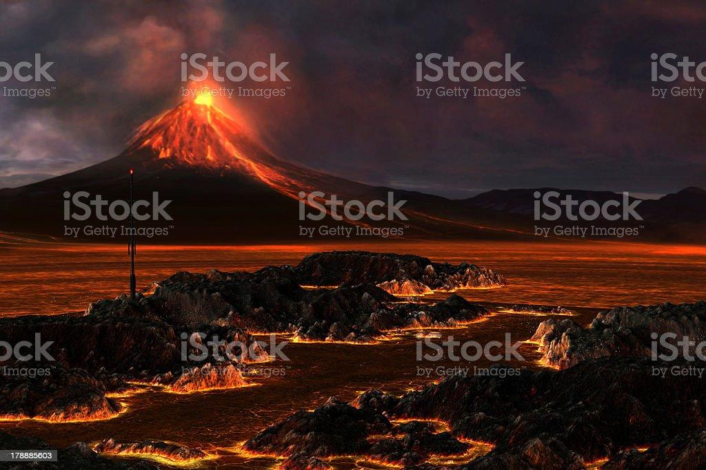 Volcanic Mountain stock photo