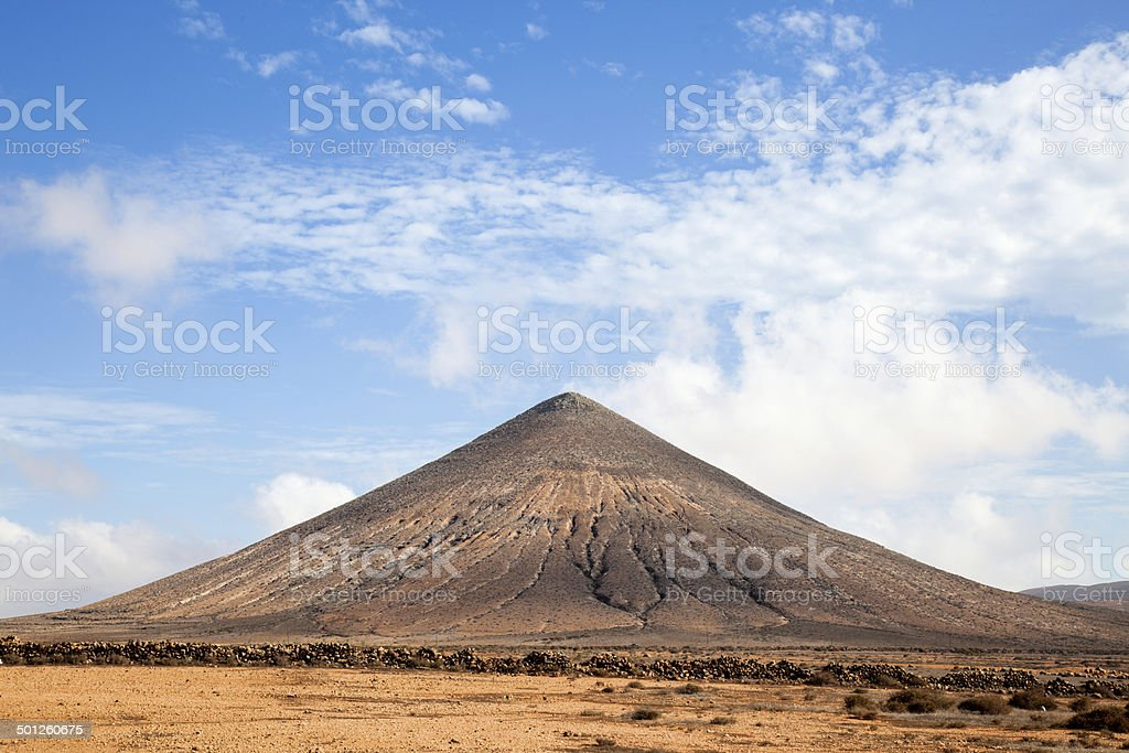 Volcanic mountain stock photo