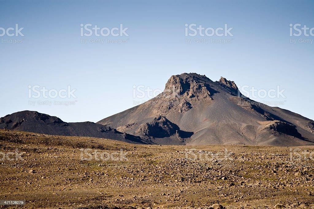 Volcanic Mountain Range stock photo