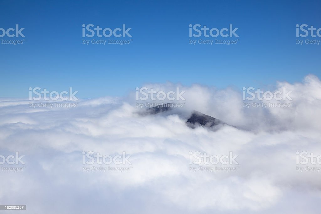 volcanic mountain top royalty-free stock photo