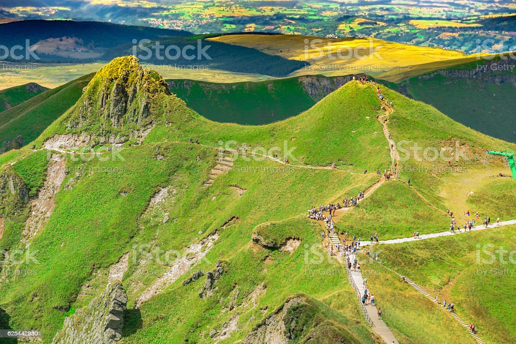 Volcanic mountains in France (Puy de Sancy, France ) stock photo