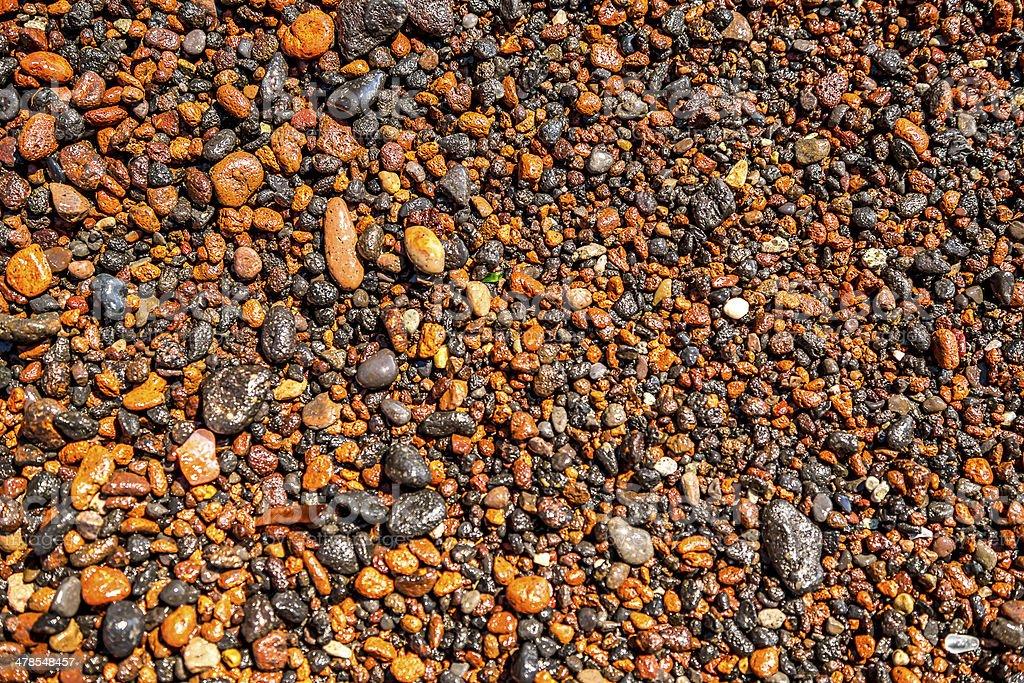 Volcanic pebbles stock photo