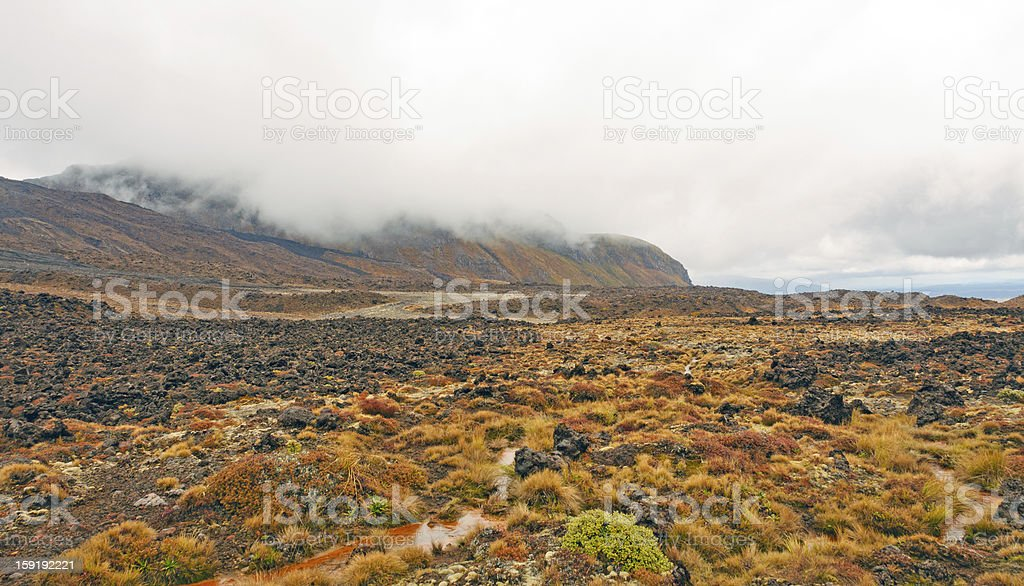 Volcanic Plains on a Cloudy Day royalty-free stock photo