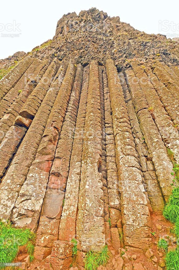 Volcanic Postpile on the Irish Coast stock photo