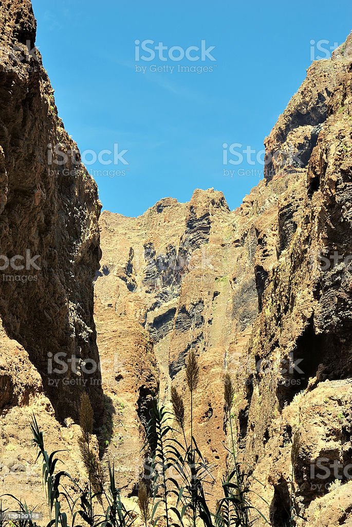 Volcanic rock formations stock photo