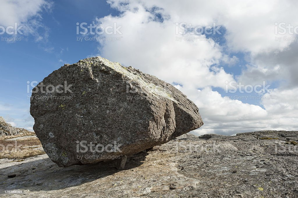 Volcanic rock on Pike of Blisco in Lake District, England royalty-free stock photo