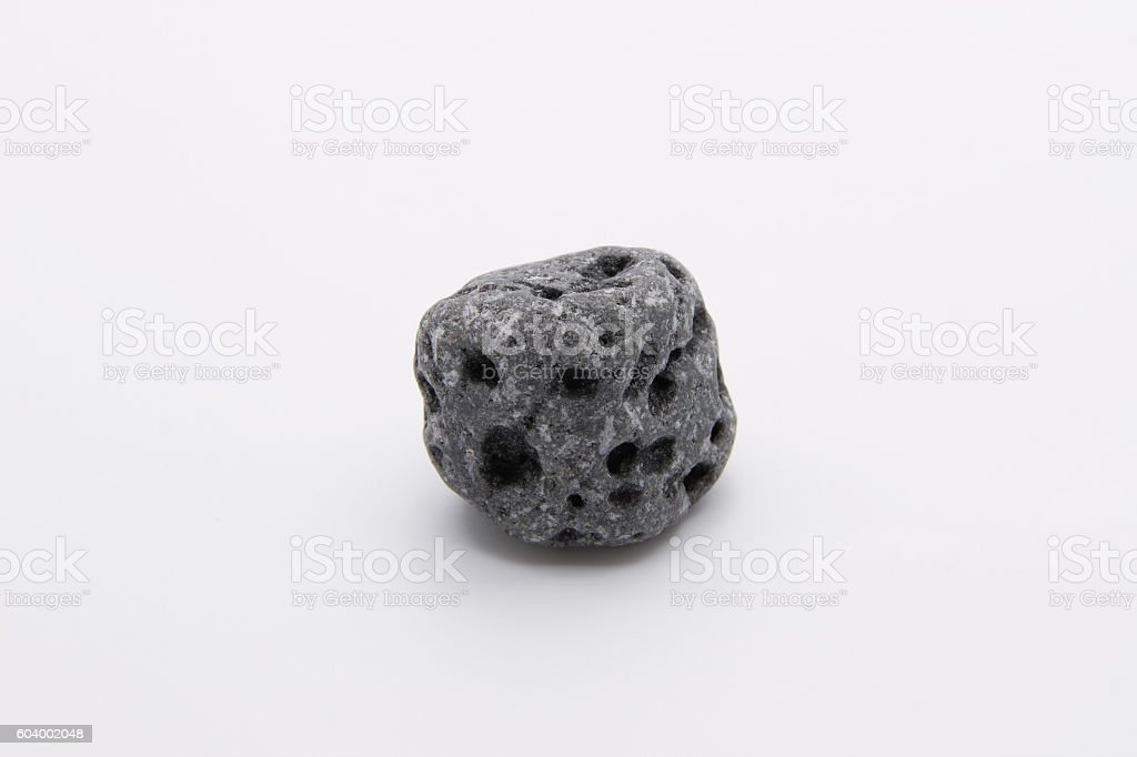Volcanic Rock on White Background stock photo